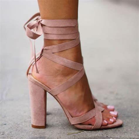 high heels with lace up lace up block high heels