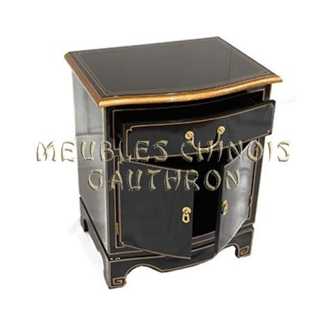 Table De Nuit Chinoise by Chevet Bombe Chinois Laque Portes Tiroir With Table De