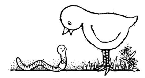 early bird coloring page early bird gets the worm clipart 19