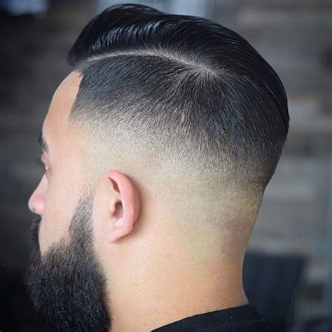 black men bald fade hard part low fade haircut with part hairstylegalleries com