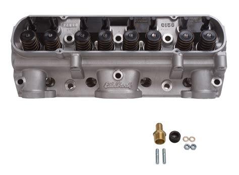 400 pontiac heads edelbrock 61599 performer pontiac d port cylinder ebay