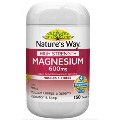 Nature S Way High Strength Magnesium 600mg 300 Tablets nature s way high strength magnesium 600mg 150 tabs your chemist shop