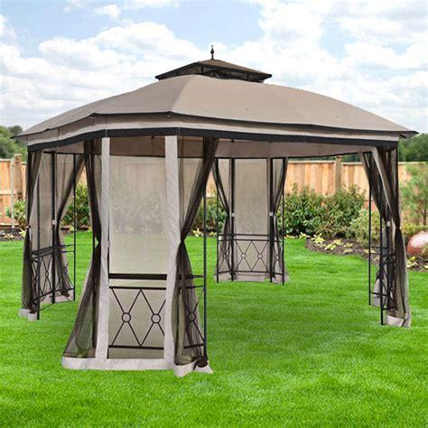 Garden Winds Gazebos by Replacement Canopy For Bay Finial Gazebo Riplock 350
