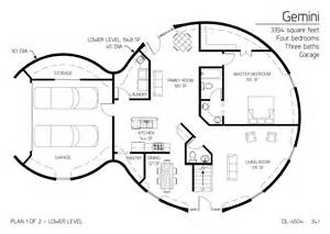 Dome Home Floor Plans Floor Plan Dl 4504 Monolithic Dome Institute