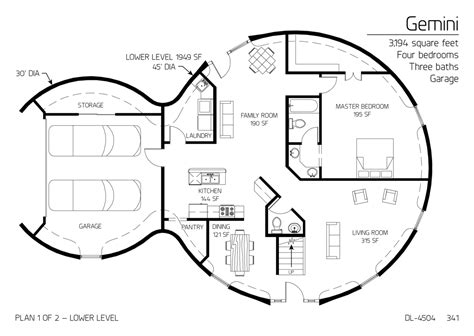 dome homes plans floor plan dl 4504 monolithic dome institute