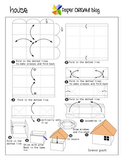 Origami Roof - nature and scenery origami a house paper origami guide