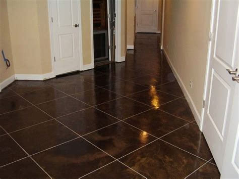 Staining Basement Floor by Basement Floor Concrete Staining Illinois Decorative