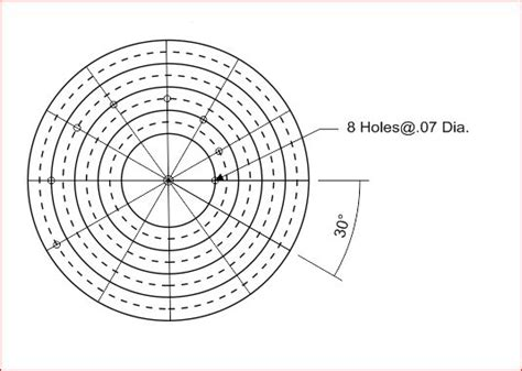 small circle center finder drawing aid