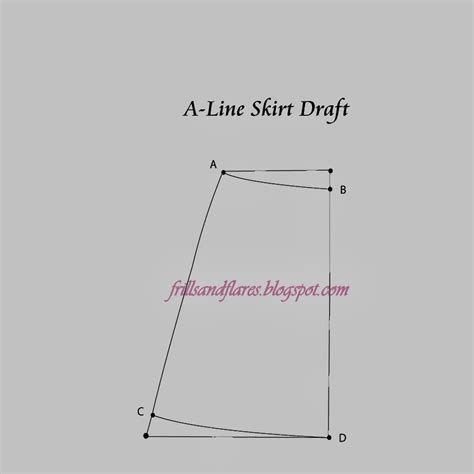 pattern drafting a line skirt frills and flares tutorial how to draft and sew an 8