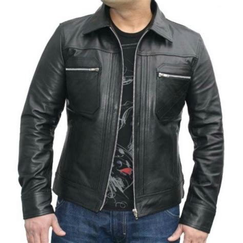 Jaket Zipper 2 This Is Ps Tni Fc s black leather jacket chest zipper pocket s leather jacket on luulla