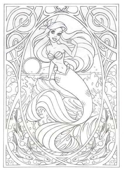 advanced disney coloring pages coloring page for later or this gt gt gt art nouveau