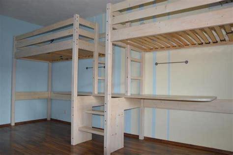 doppelhochbett erwachsene multifunktionales doppeltes hochbett mit 2 schreibtischen