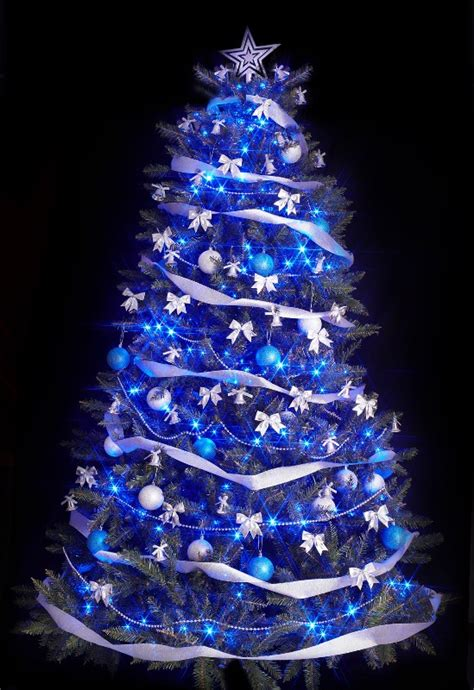 black light tree 25 blue color theme tree decorations ideas magment