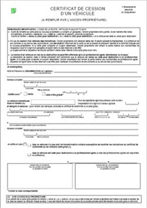 Marubricabrac: Certificat De Cession Gratuit