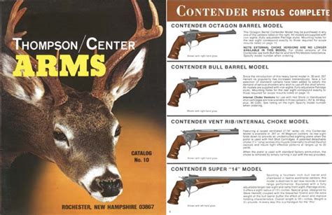 thompson and catalog cornell publications thompson center arms 1983 gun catalog