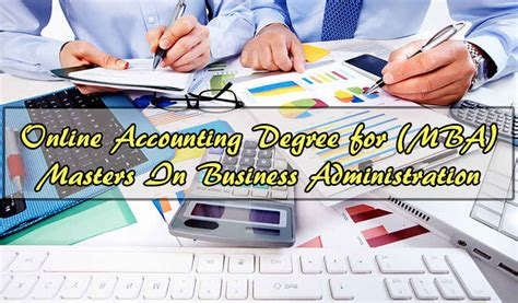 Mba Or Master In Accounting by Accounting Degree For Mba Masters In Business