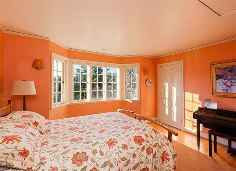 orange bedrooms orange bedroom paint colors for small spaces 7 to try