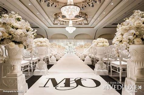 Outdoor Wedding Aisle Decorations   stylish white indoor