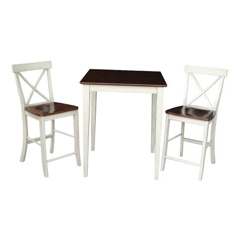 Espresso Bar Table International Concepts X Back 3 Almond And Espresso Bar Table Set K12 3030 6132 2 The