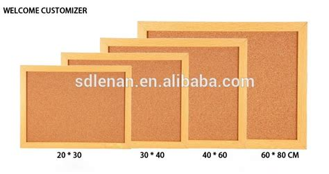 Decorative Cork Boards For Home wholesale custom printed sizes of pin wooden frame cork