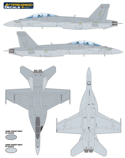 boeing f a 18f hornet camouflage color profile and paint guide