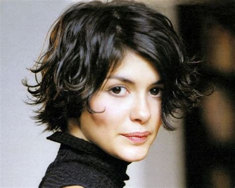 brunette womens shaggy layered short haircuts audrey tautou brunette hair short flipped out playful