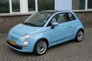 Fiat 500c Blue Fiat 500 Cabrio Air Turbo 85pk Dualogic Automaat