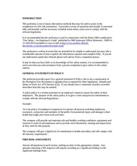 health and safety statement of intent template image