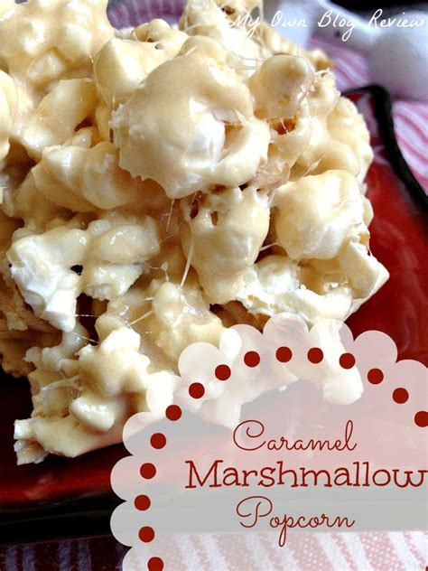 popcorn recipe caramel marshmallow popcorn embellishmints