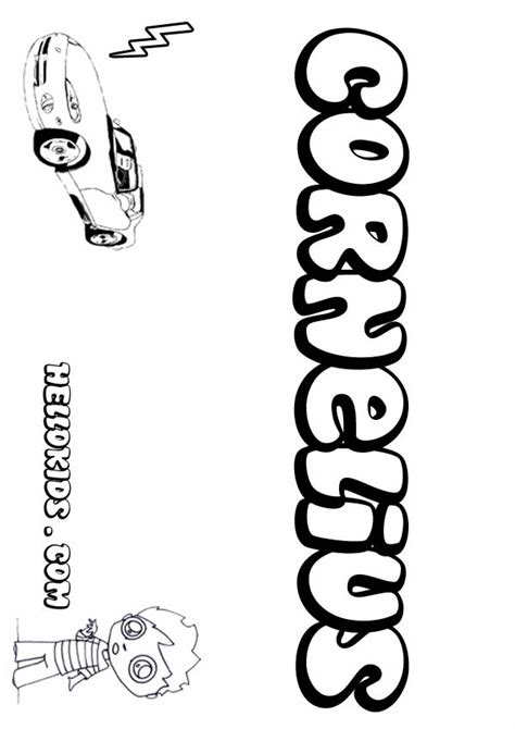 Cornelius Coloring Page and cornelius coloring page coloring pages