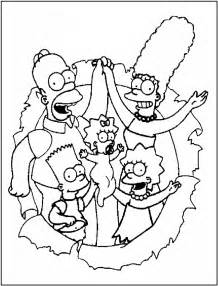 printable coloring pages free printable simpsons coloring pages for