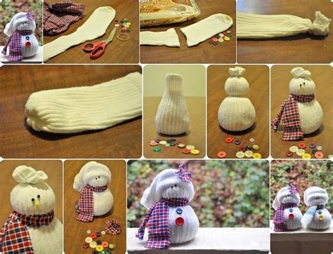 diy out of socks ideas products diy sock snowmen