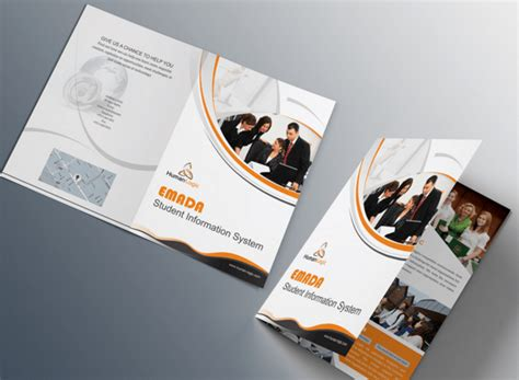 two fold brochure template psd 100 high quality free flyer and brochure mock ups