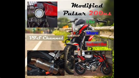 Modified Bikes With Lights by Modified Pulsar 200 Ns Bike With Exhaust And U7 Fog Lights