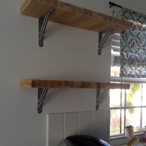diy butcherblock shelves my crafty spot when gets