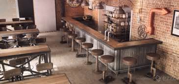 Latest Home Interior Designs by The Cool Industrial Style Exposed In A Bar Timisoara