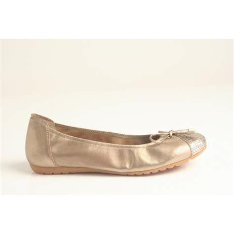 Bow Sabrina sabrinas sabrinas bronze leather ballerina with bow trim and snake effect printed leather toe
