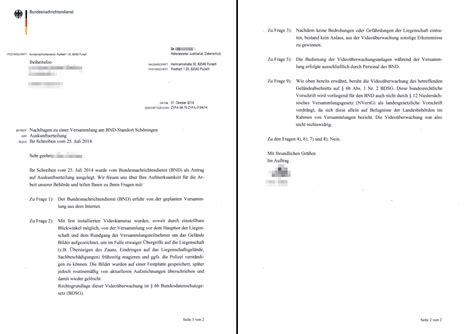 Anschreiben Zwei Personen Der Bnd Und Die Versammlungsfreiheit Aussp 228 Hung
