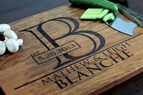 Engraved Wedding Gifts by Engraved Cutting Board Cutting Board Personalized
