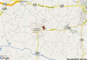 map of americinn of boiling springs nc shelby