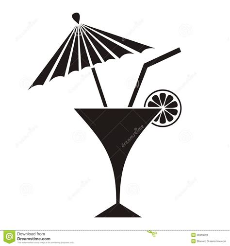 cocktail silhouette cocktail stock image image 36618391
