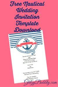 Nautical Wedding Invitation Template by Sponsored Links