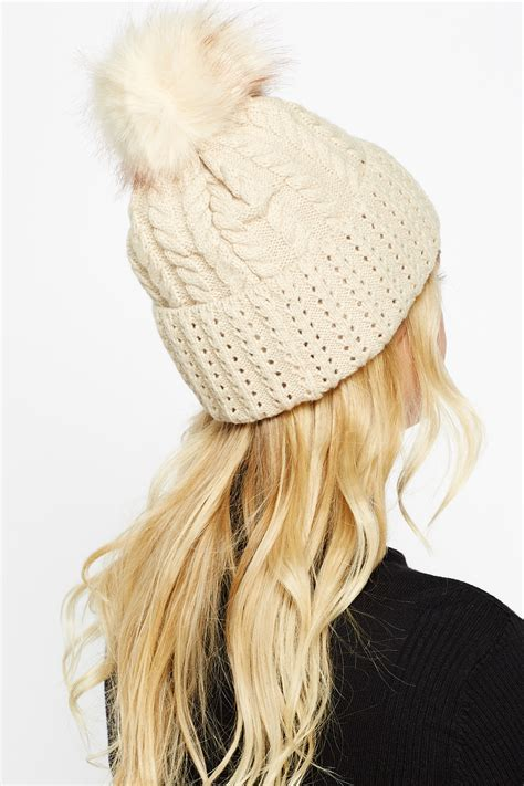 cable knit pom pom hat cable knit pom pom beanie just 163 5