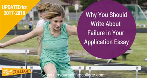 College Application Essay About Failure Obstacle Challenge Setback Or Failure In Common App Essaydr B Bernstein