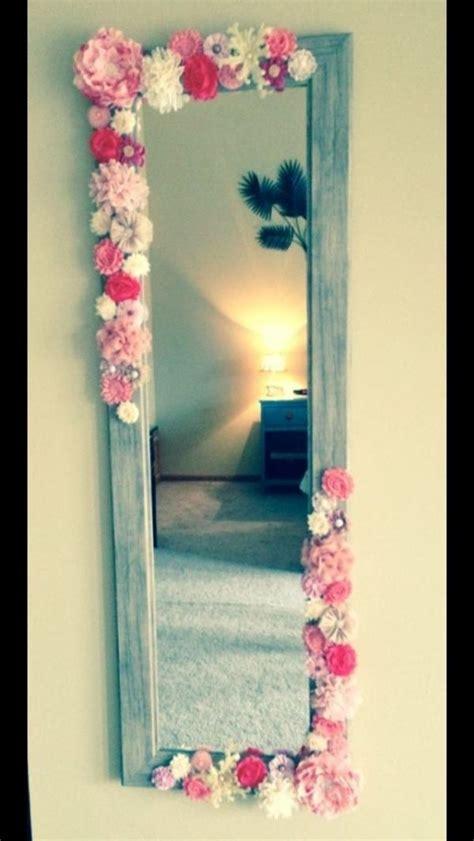 decorar espejo con flores - Decorar Espejos Con Flores