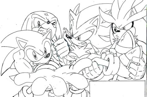Free Coloring Pages Of Sonic Vs Silver Vs Shadow Shadow Sonic Coloring Pages