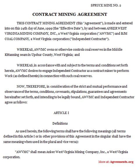 %name free contractor agreement template   Non Disclosure Agreement Template