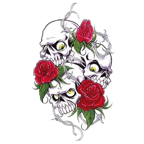 skulls and roses tattoo here my tattoo