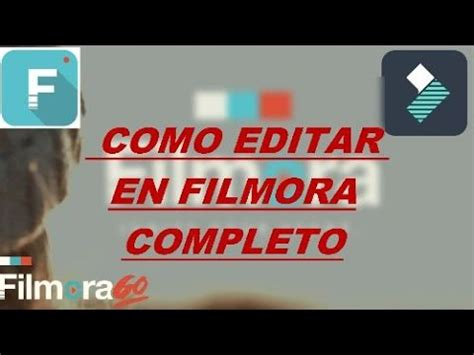 tutorial filmora en español como editar videos en filmora en espa 209 ol youtube