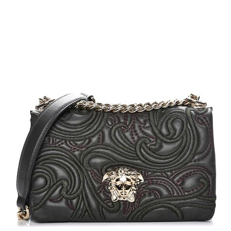 Versace Embroidered Shoulder Bag by Versace Nappa Embroidered Baroque Palazzo Sultan Shoulder